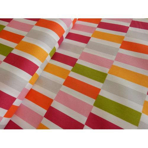 Dekorační látka barevné pruhy