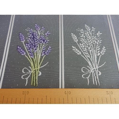 Krátká vitrážová záclona 60cm Levandule