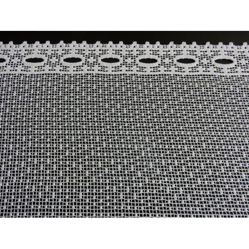 Krátká vitrážová záclona 45cm hrubá