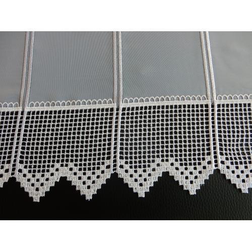 Krátká vitrážová záclona 30cm 013/777 bílá