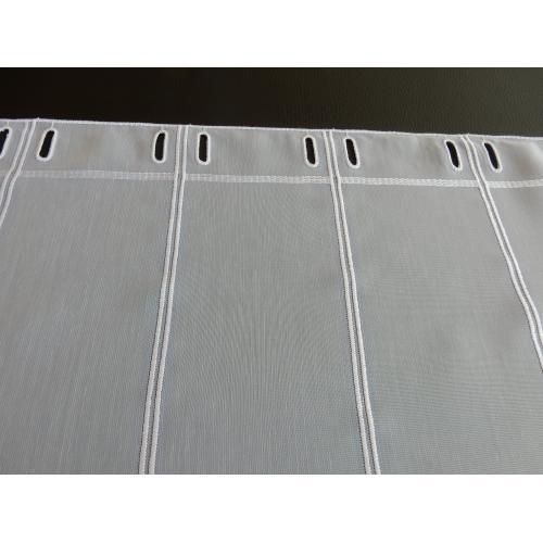 Krátká vitrážová záclona na tyčku 80cm BATIST V202 bílá