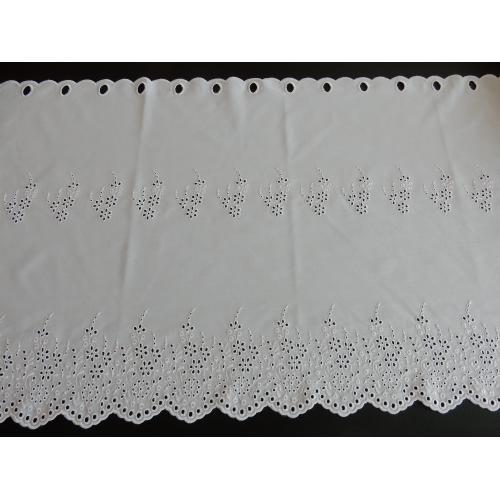 Krátká vitrážová záclona 60cm Madeira 81115 bílá