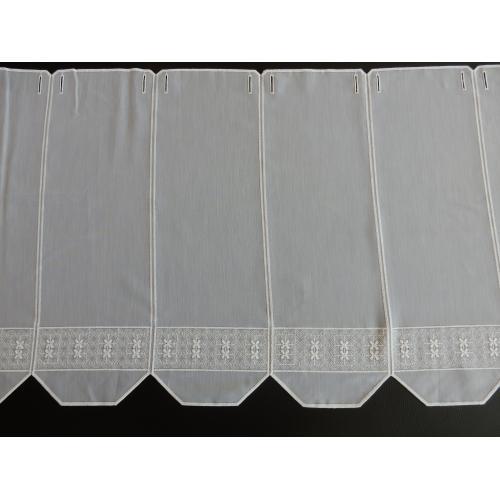 Krátká vitrážová záclona 50cm G11584 bílá