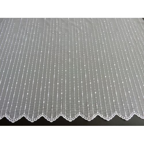Vyšívaná tylová záclona s bordurou 654/130 bílá
