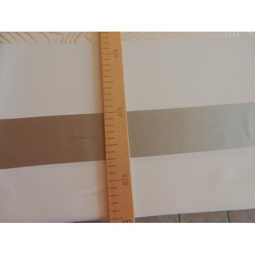 Dekorační látka krémová s ozdobnými pruhy