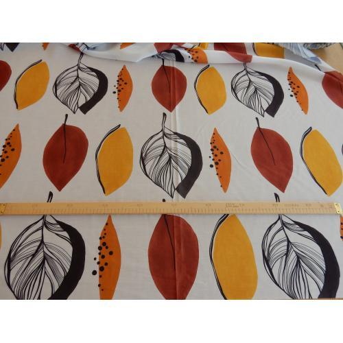Dekorační látka velké podzimní listy