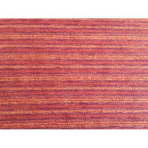 Žinylková potahová látka pruhovaná MIX 17 tmavě červeno-oranžová