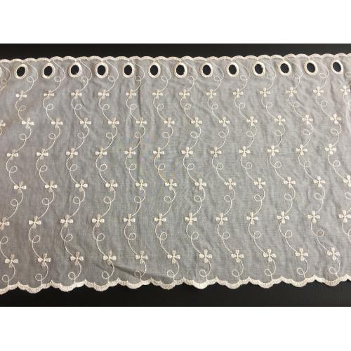 Krátká vitrážová záclona na tyčku 45cm BATIST mašličky béžová