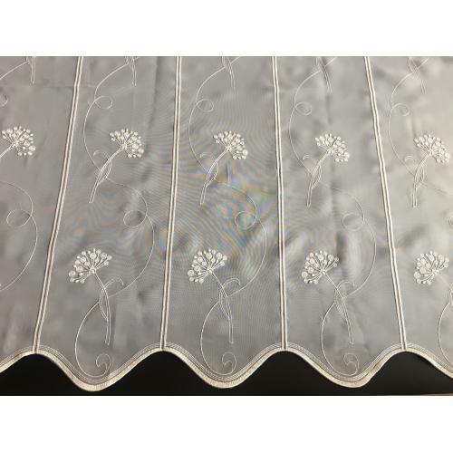 Krátká vitrážová záclona 90cm voal Pampeliška