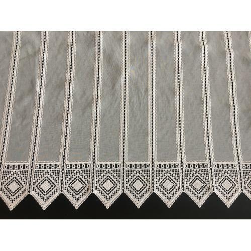 Krátká vitrážová záclona 90cm BATIST 013011 béžová