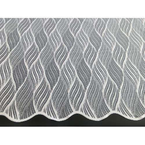Žakárová záclona s bordurou Kytičky 7171/180 bílá