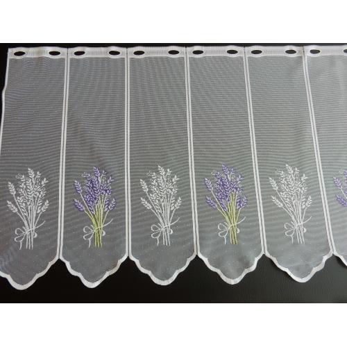 Krátká vitrážová záclona 70cm Levandule