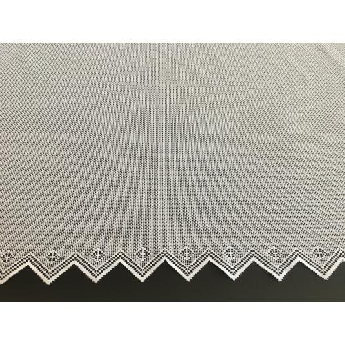 Žakárová záclona s bordurou cikcak 442