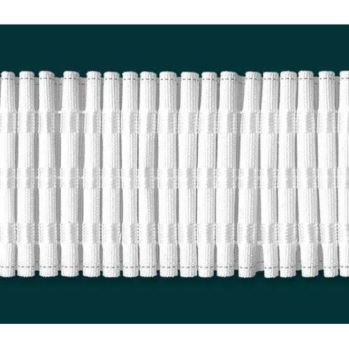 Záclonová řasící stuha šíře 75mm 049 textilní bílá