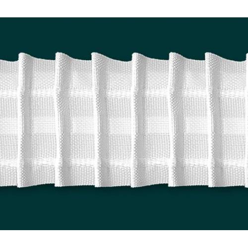 Záclonová řasící stuha šíře 50mm 024 textilní bílá