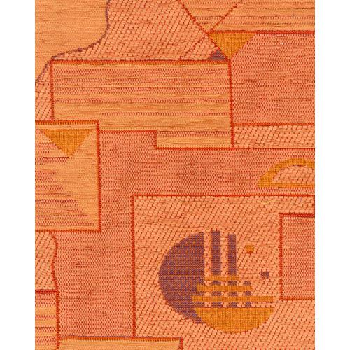 Žinylková potahová látka se vzorem TERA 31 oranžová