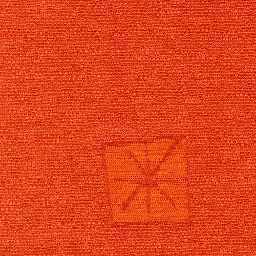 Žinylková potahová látka se vzorem REK 259 oranžová