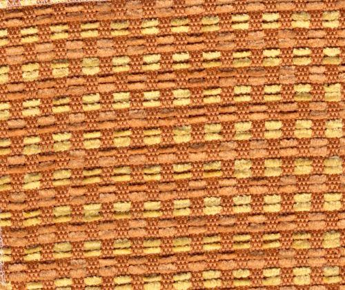 Žinylková potahová látka kostičky KIRI 204 oranžová