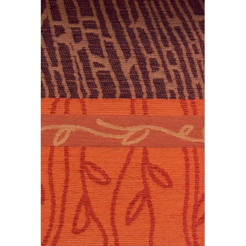 Potahová žinylka se vzorem NOJUS 5/21 cihlovo-hnědá
