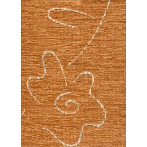 Čalounická žinylka se vzorem kytky BUGY 211 meruňková