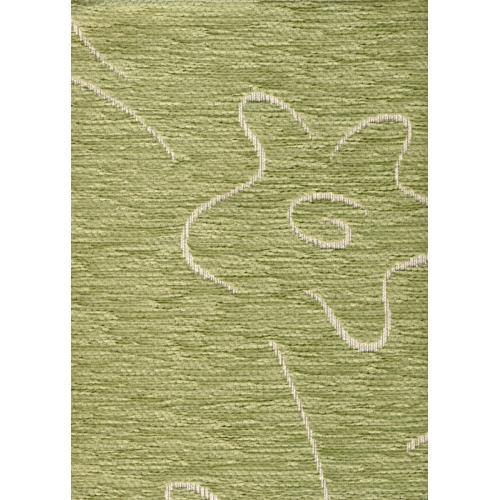 Čalounická žinylka se vzorem kytky BUGY 601 zelená