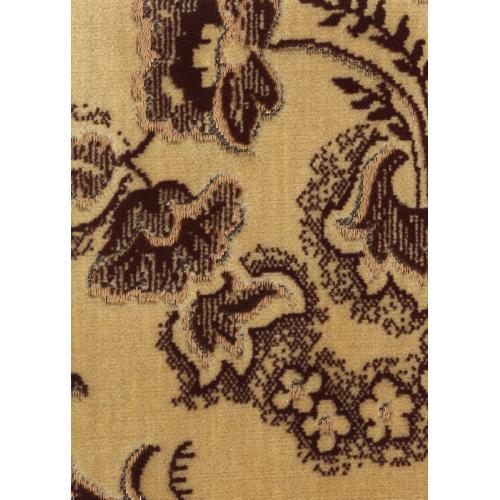 Tkaný plyš květinový vzor hnědý TITUS 2032/191