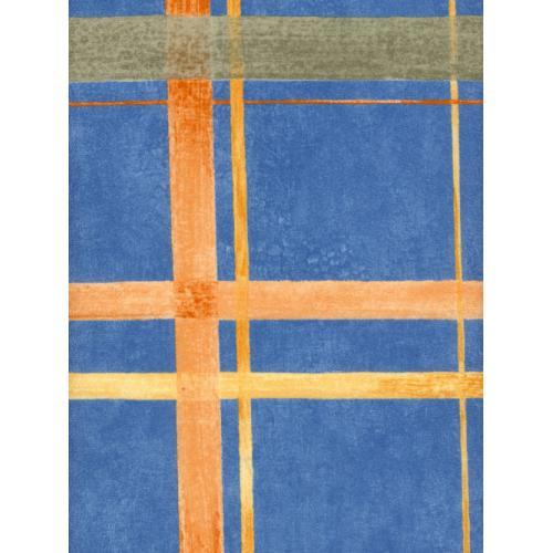 Mikroplyš se vzorem metráž KARAGAN 1009T modrá
