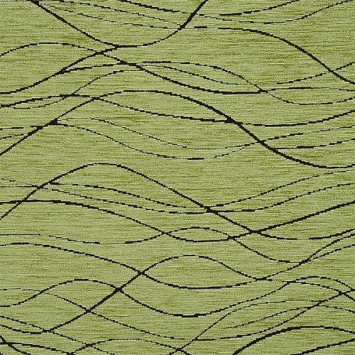 Žinylka potahová látka s vlnkami BALEA 10 zelená