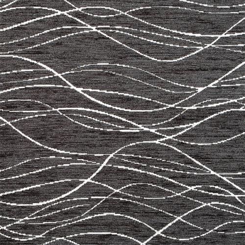 Žinylka potahová látka s vlnkami BALEA 24 tmavě šedá