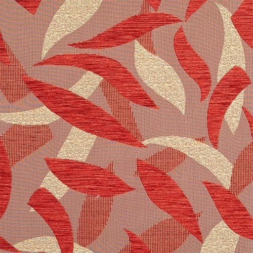 Čalounická žinylka se vzorem SILVIE 2805 hnědo-červená
