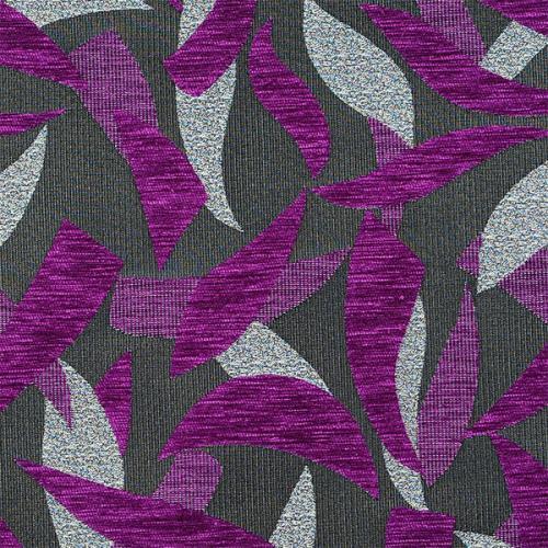 Čalounická žinylka se vzorem SILVIE 703 fialová