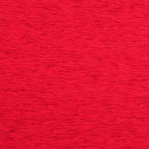 Žinylková jednobarevná látka KROUŽKY UNI 07-02 červená
