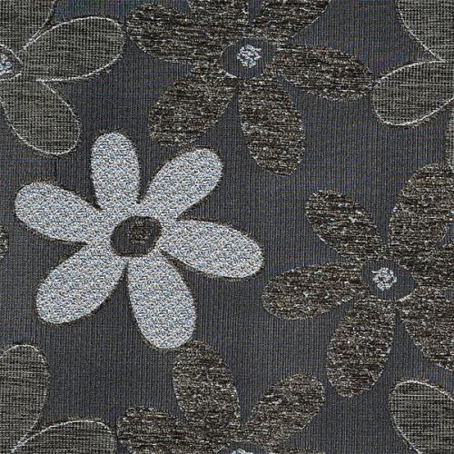 Potahová žinylka s kytkama NELLY 07-05 šedá