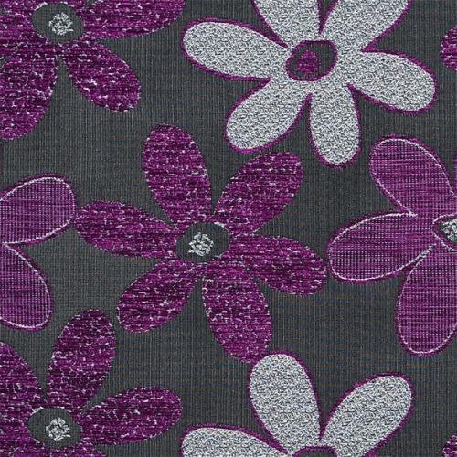 Potahová žinylka s kytkama NELLY 07-03 fialová
