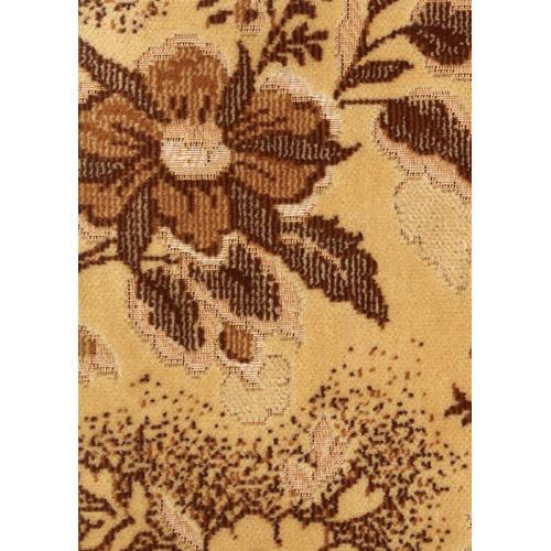 Tkaný plyš květinový vzor světle hnědý TITUS 2034/173