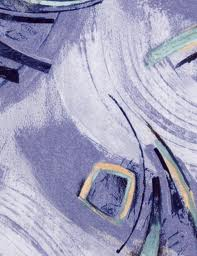 Mikroplyš se vzorem metráž KARAGAN 971 S modro-šedá
