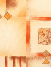 Mikroplyš se vzorem metráž KARAGAN 901 D pískovo-oranžová