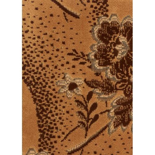 Tkaný plyš květinový vzor hnědý TITUS 2045/270
